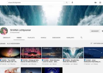 Meine 2 YouTube Kanäle: Shana-Lichtpionier